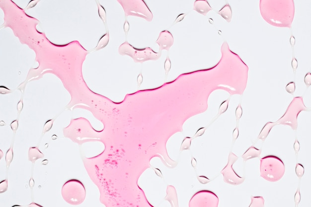 Splash de água rosa