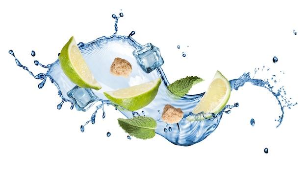 Splash of mohito cocktail
