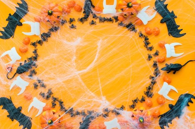 Spooky circular halloween background