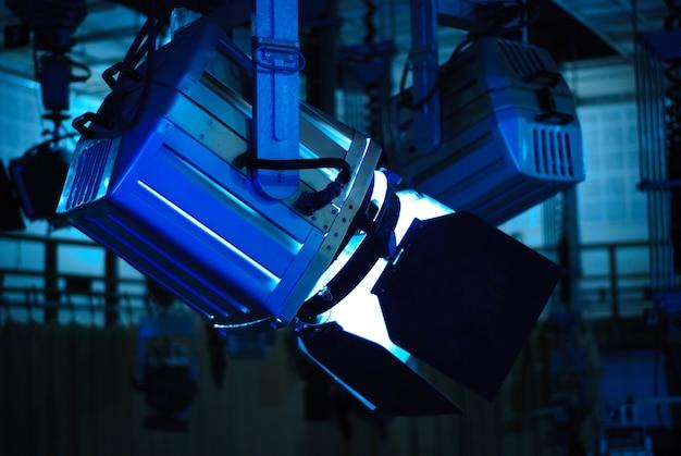 Spot light em estúdio de televisão no teto