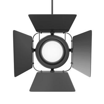Spotlight preto isolado no branco