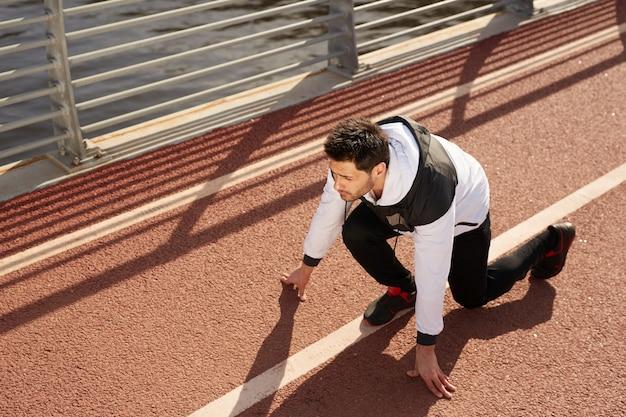 Sprinter na pista de corrida
