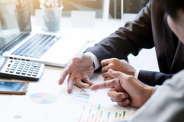 Startup business teamwork meeting concept.