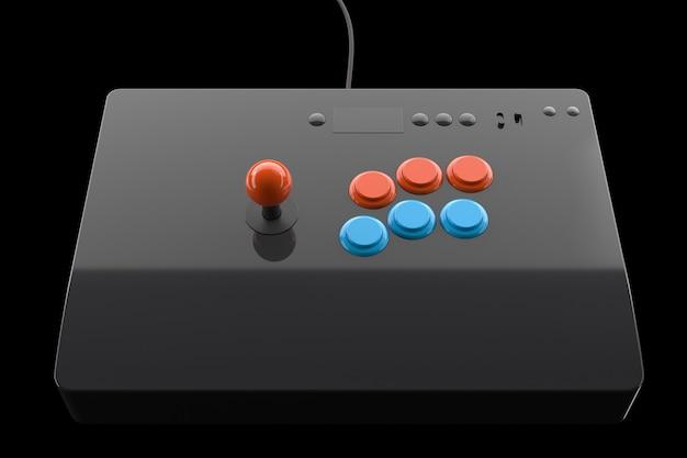 Stick de fliperama vintage com joystick e botões de nível de torneio