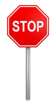 Stop road-sign