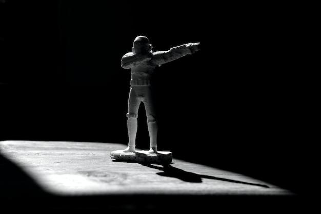 Stormtrooper impresso em 3d, figura do guerra nas estrelas