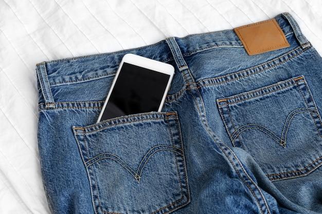 Studio shot jeans, roupas, denim