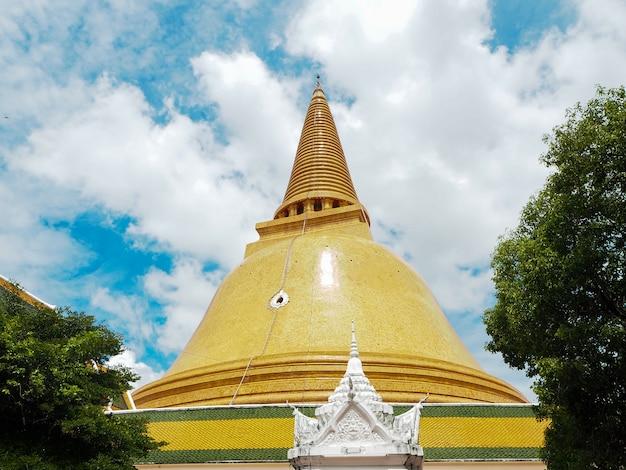 Stupa antiga phra pathom chedi tailândia