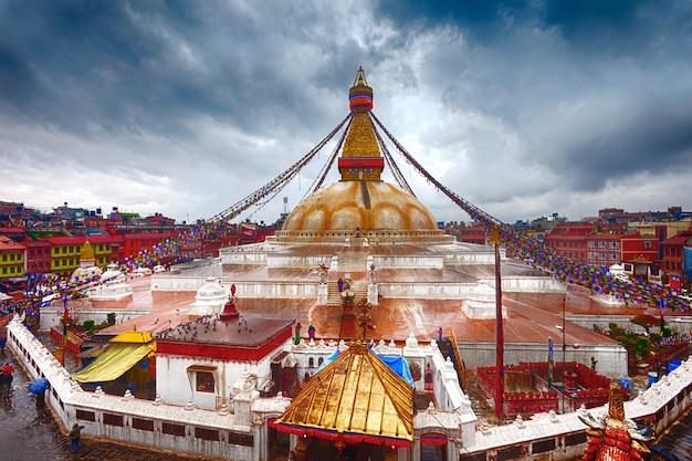 Stupa de boudhanath em kathmandu, nepal