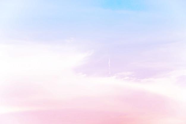 Suave nublada é pastel gradiente, fundo abstrato do céu na cor doce