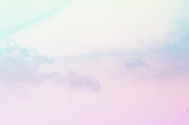 Suave nublado é pastel gradiente, fundo do céu abstrato