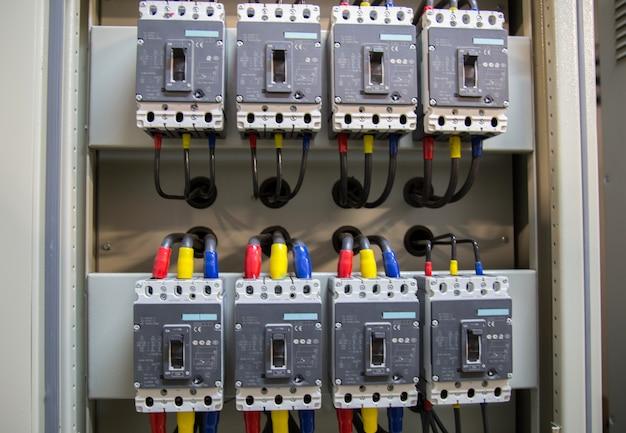 Subestação de distribuição de energia elétrica.