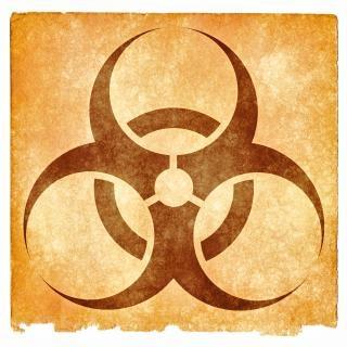 Substância sinal de risco biológico grunge