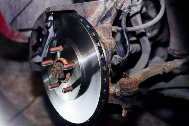 Substituição dos discos de freio do carro reparo do sistema de freio