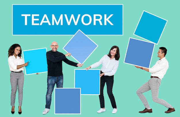 Sucesso através do trabalho em equipe e construção de equipes