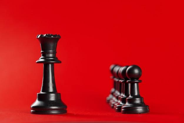 Sucesso nos negócios de xadrez, conceito de liderança