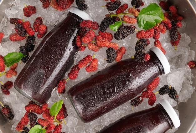 Suco de amora com frutas vermelhas
