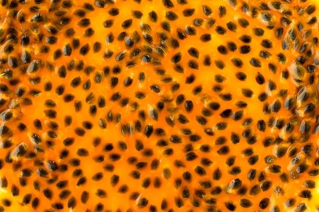 Suco de fruta da paixão close up texture for background