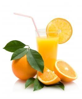 Suco de frutas de laranja fresco