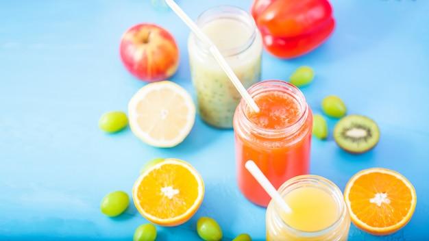 Suco de frutas espremido na hora