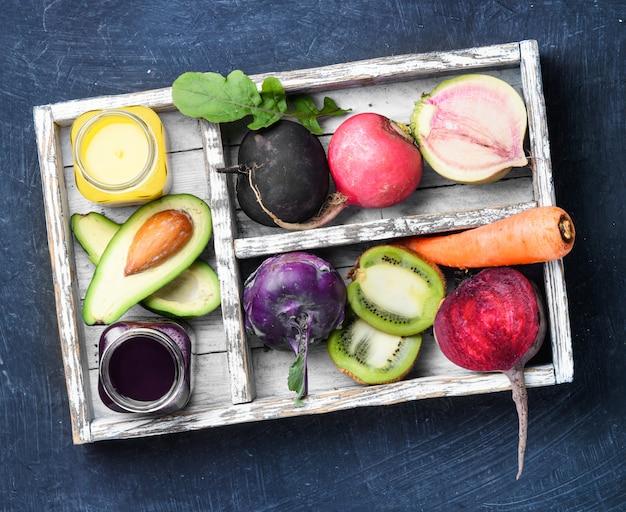 Suco de legumes frescos