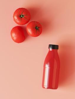 Suco de tomate em rosa
