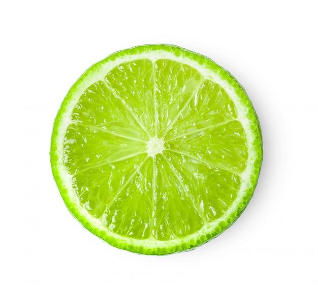 Suculenta fatia de limão isolado