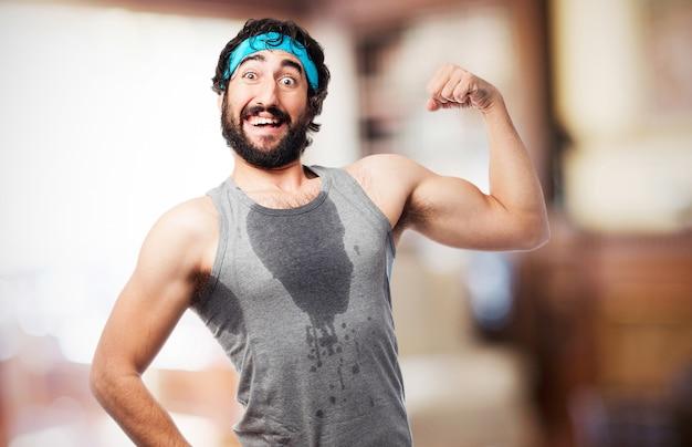 Sudorese atleta masculino