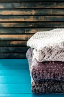 Suéter aconchegante e macio em um lindo enfeite