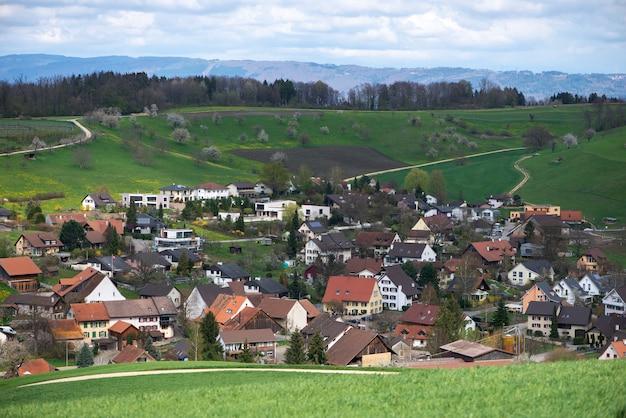 Suíça, cantão, basileia, país, olsberg, cercar, arisdorf, paisagem