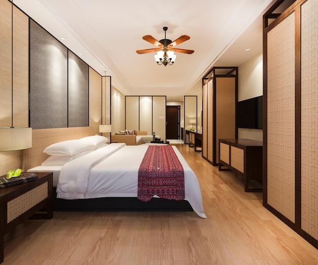 Suíte tropical de luxo em hotel resort