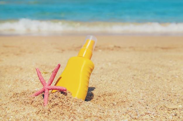 Sunblock na praia