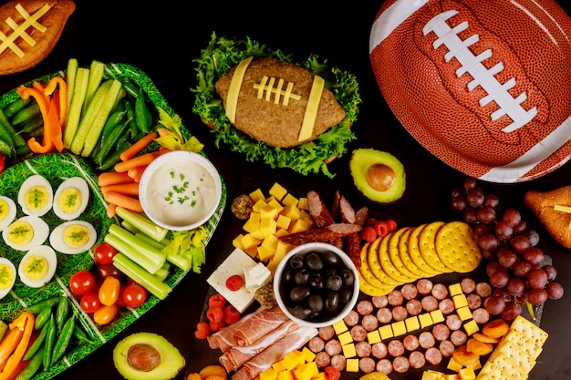 Super bowl jogo catering comida, aperitivo para festa