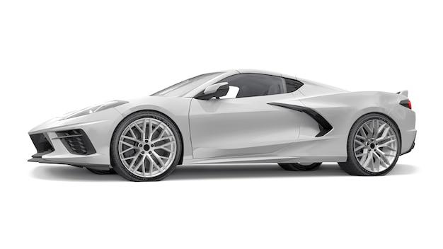 Super carro esportivo em um fundo branco. ilustração 3d.