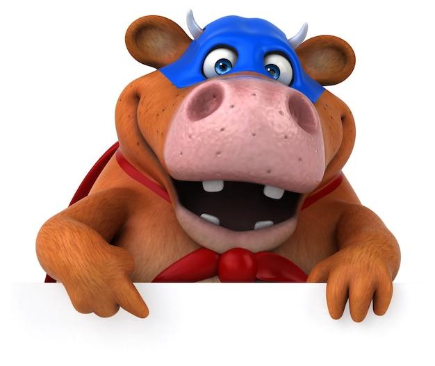 Super cow - ilustração 3d