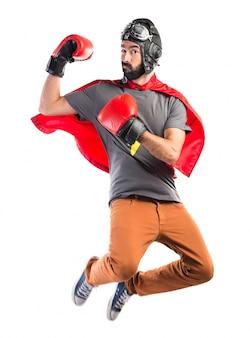 Super-herói com luvas de boxe