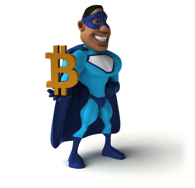 Super-herói divertido - ilustração 3d