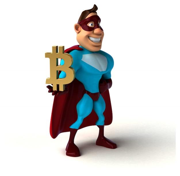 Super-herói divertido - personagem 3d