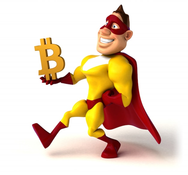 Super-herói divertido - personagem 3d Foto Premium