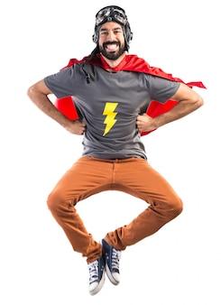 Super-herói feliz