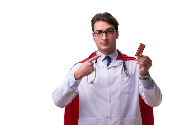 Super herói médico isolado
