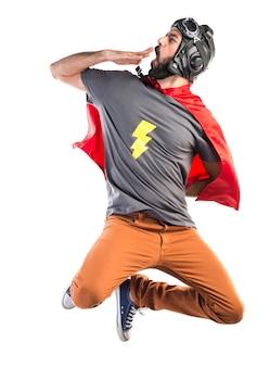 Super-herói que boceja