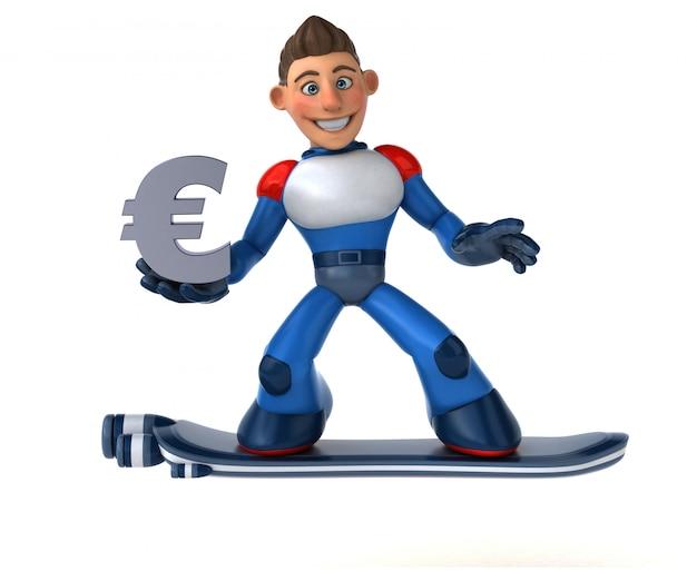 Super-herói super moderno - ilustração 3d