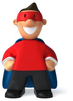 Super pai - ilustração 3d