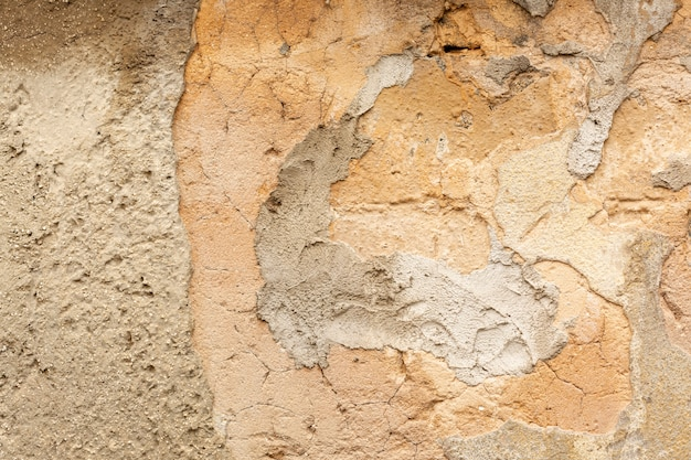 Superfície áspera e grossa da parede de concreto