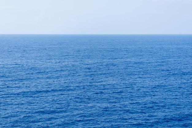 Superfície azul do mar com vista aérea de ondas