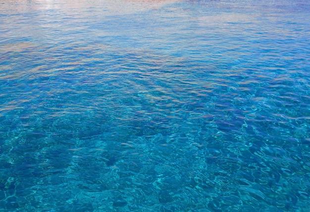 Superfície azul do mar, vista superior