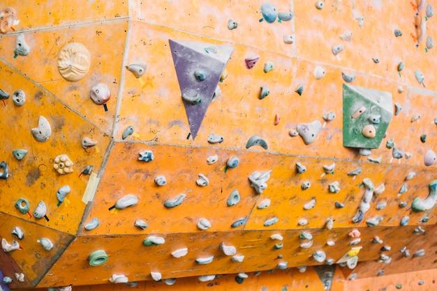Superfície da parede de escalada