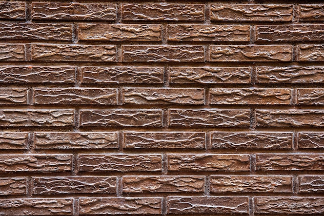 Superfície da parede de tijolo marrom