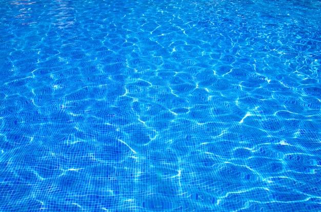 Superfície da piscina, fundo da água